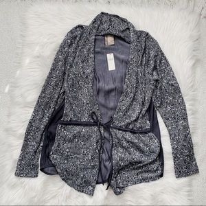 NWT Anthropologie Dolan Grey Tie Waist Cardigan